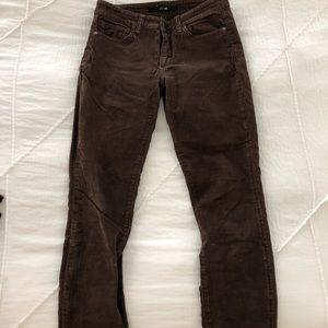 Joe's Jeans Brown Corduroy Skinnies